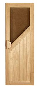Дверь для бани и сауны с окном ПЛ 32 Л, размер по коробке 1,90 х 0,70 м - компания ИТС