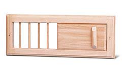 Вентиляционная решетка с задвижкой для сауны и бани. Малая - компания ИТС
