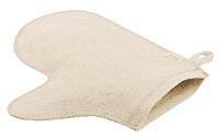 Рукавица полушерстяная (бело-серая) для бани и сауны - компания ИТС