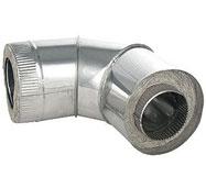 Сэндвич-отвод дымохода для бани, 90°,2-контурный, D130/260мм - компания ИТС