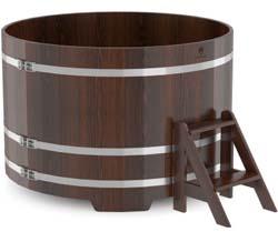 Купель для сауны и бани круглая четырехместная (дуб) - компания ИТС