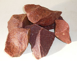 Камень для бани и сауны кварцит малиновый