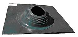 Фланец (цвет зеленый)для дымохода для бани, наклонный для кровли, D до 280 мм - компания ИТС