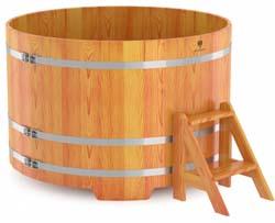 Купель для бани круглая четырехместная (лиственница) - компания ИТС