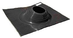 Фланец(цвет черный) для дымохода для бани, наклонный  для кровли,D до 280 мм - компания ИТС