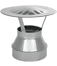 Зонт-оголовок на дымоход для бани,D 115/215 мм, 2-контурный - компания ИТС