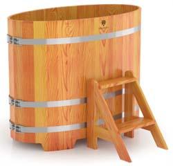 Купель для бани овальная двухместная (лиственница)