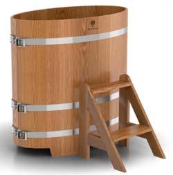 Купель для бани овальная одноместная (дуб) - компания ИТС