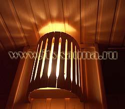 Банный абажур для углового и настенного светильников,дерево - компания ИТС
