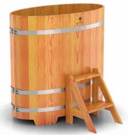 Купель для бани овальная двухместная (лиственница) - компания ИТС