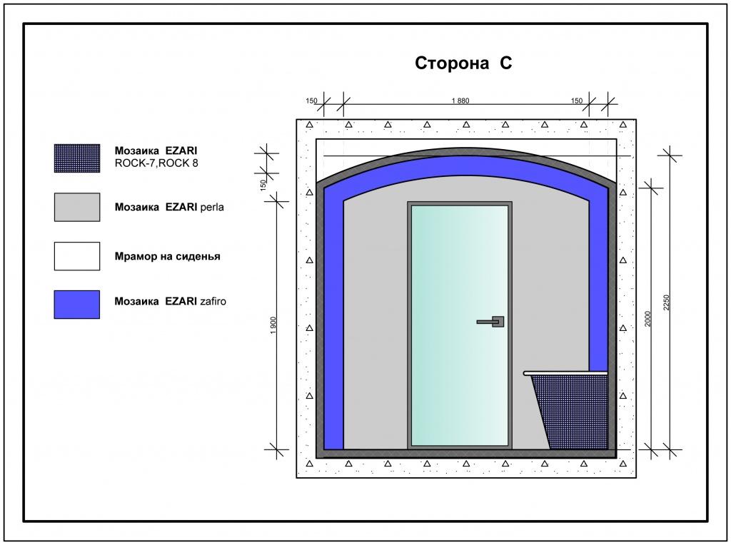 Турецкая баня (хамам) размер: