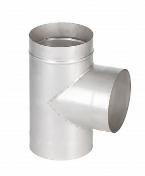 Тройник для дымохода для бани 90* , 1-контурный,D130мм - компания ИТС