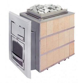 """Печь для бани """"Чародейка"""" большая (шамотный кирпич), дровяная каменка в облицовке - компания ИТС"""