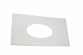 Пластина к ППУ дымохода для бани, D260мм (Лист накладной 570х570 д=260 толщ 0,5 мм ) - компания ИТС