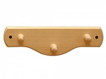 Вешалка 3 крючка деревянная из лиственных пород - компания ИТС