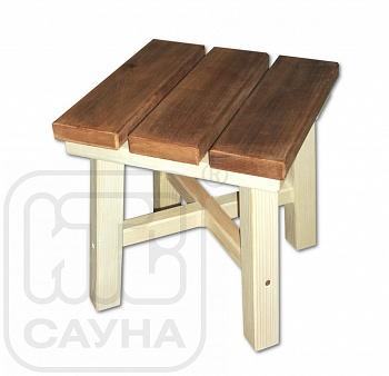 Табурет из термообработанной древесины, 0,30х0,30х0,30м (низкий) - компания ИТС
