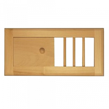 Вентиляционная решетка с задвижкой для сауны и бани. Большая - компания ИТС