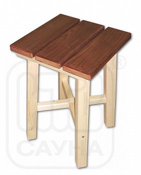 Табурет из термообработанной древесины, 0,30х0,30х0,45м - компания ИТС