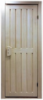 Дверь для бани ПЛ 23 Л деревянная, размер по коробке 1,90 х 0,70 м, лиственные породы дерева, массив - компания ИТС