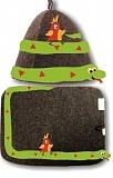 """Комплект войлочный """"38 попугаев"""" (шляпа модельная + коврик) мышиный комбинированный"""