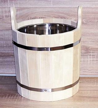 Запарник деревянный для сауны и бани(Saommi) 20л с нержавеющей вставкой и деревянным дном - компания ИТС