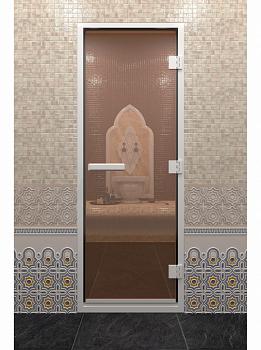 Дверь для хамам (хаммам), 70х190см, бронза, ДВ - компания ИТС