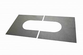 Пластина из 2-х частей для чердачного перекрытия для дымохода для бани - компания ИТС