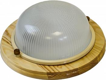 Светильник для бани и сауны Круг Термо 60 малый, дерево - компания ИТС