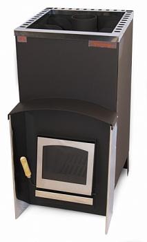 """Печь для бани """"Вулкан Эльбрус 16 С"""", дровяная каменка, дверца со стеклом - компания ИТС"""