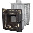 Гефест ПБ-04М ЗК (закрытая каменка, малая дверца) чугунная дровяная печь, 05 м3