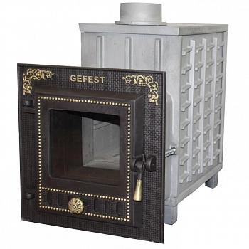 Гефест ПБ-04М ЗК (закрытая каменка, малая дверца) чугунная дровяная печь, 18 м3 - компания ИТС