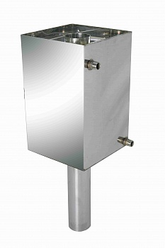 Бак-труба для  нагрева воды в бане, D 130 мм, объем 50 л - компания ИТС