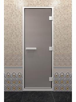 Дверь для турецкой бани, 80х200см, сатин, профиль алюминий, ДВ - компания ИТС