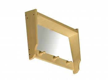 Полка для бани с зеркалом 0,45х0,09х0,34 из лиственных  пород бытового назначения - компания ИТС