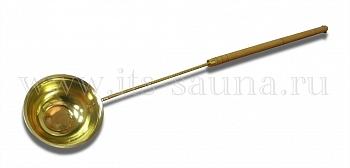 Черпак для бани и сауны Большой, латунь, 85 см - компания ИТС
