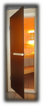 Дверь для сауны стеклянная ПЛ 42 Л (матовая бронза), размер по коробке 1,90 х 0,70 м - компания ИТС
