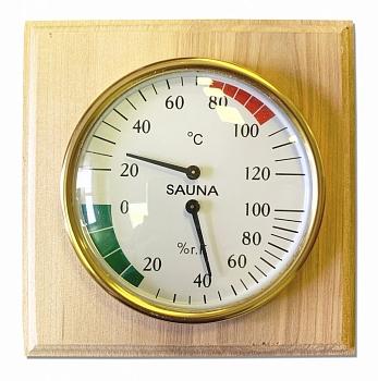 Гигрометр+Термометр для бани, 2 в 1, в дереве - Будь Здоров - компания ИТС