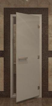 Дверь для турецкой бани, 70х190см, сатин, профиль алюминий, ДВ - компания ИТС