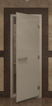 Дверь DoorWood Хаммам сатин 190х70см для турецкой бани - компания ИТС