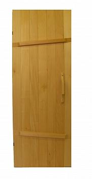 Дверь для бани ПЛ-25Л, размер по коробке 1,7х0,66 м, лиственные породы дерева, массив - компания ИТС
