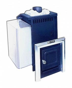 """Печь для бани """"Ермак 16  СТАНДАРТ модульная"""" дровяная черная, дверца  без стекла - компания ИТС"""