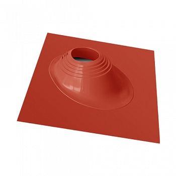 Фланец (цвет терракот) для дымохода для бани, наклонный для кровли,D до 280 мм  - компания ИТС