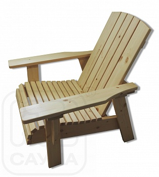 """Кресло """"ИВАН да МАША"""" из хвойных пород дерева, цвет натуральный - компания ИТС"""