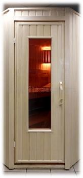 Банная дверь с окном ПЛ-30Л, размер по коробке 70х190 см - компания ИТС